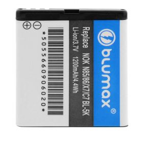 Blumax Repl.Battery for Nokia N85/86/X7/C7 BL-5K 1300mAh
