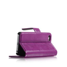 Blumax PU Wallet Bookstyle Case iPhone 5 Purple
