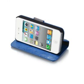 Blumax PU Wallet Bookstyle Case iPhone 4 4S Turquoise
