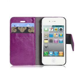 Blumax PU Wallet Bookstyle Case iPhone 4 4S Purple