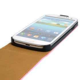 FLIP калъф за Samsung Galaxy S3 i9300 Естествена кожа Pink