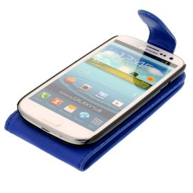 FLIP калъф за Samsung Galaxy S3 i9300 Dark Blue (Nr 11)