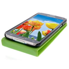 FLIP калъф за Samsung Galaxy S5 Green (Nr 30)