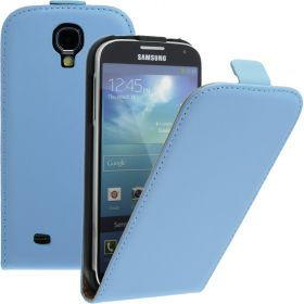 FLIP калъф за Samsung Galaxy S4 i9500 Естествена кожа Blue