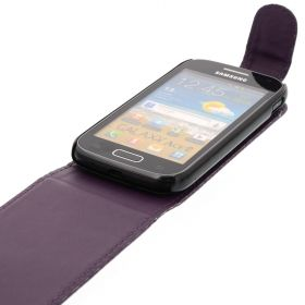FLIP калъф за Samsung Galaxy Ace 2 GT-i8160 Purple (Nr 33)