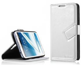 Blumax PU Wallet Bookstyle Case Samsung Galaxy Note 2 N7100 White