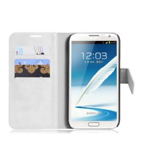Blumax PU Wallet Bookstyle Case Samsung Galaxy Note 2 N7100 White