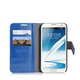 Blumax PU Wallet Bookstyle Case S.Galaxy Note 2 N7100 Turquoise