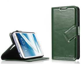 Blumax PU Wallet Bookstyle Case Samsung Galaxy Note 2 N7100 Green