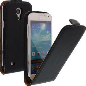 FLIP калъф за Samsung Galaxy S4 mini Естествена кожа Black