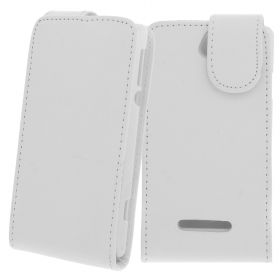 FLIP калъф за Sony Xperia E White (Nr 15)