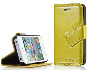Blumax PU Wallet Bookstyle Case iPhone 4 4S Yellow