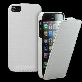Slim FLIP калъф за iPhone 5 White