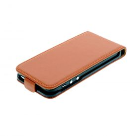 FLIP калъф за iPhone 5 Естествена кожа Orange