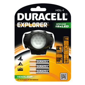 Фенер за глава Duracell Explorer Headlamp HDL-1 + 3xAAA