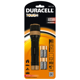Фенер Duracell Tough Multi MLT-10 + 4xAA