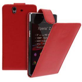 FLIP калъф за Sony Xperia Z Red