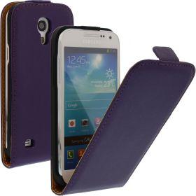 FLIP калъф за Samsung Galaxy S4 mini Естествена кожа Purple