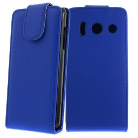 FLIP калъф за Huawei Ascend Y300 Dark Blue (Nr 11)