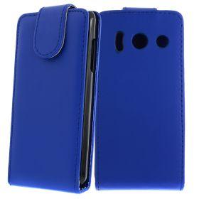 FLIP калъф за Huawei Ascend Y300 Dark Blue (Nr 11)