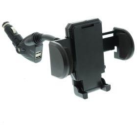 Универсална стойка за кола с USB 1A / 2A - 12V / 24V