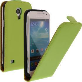 FLIP калъф за Samsung Galaxy S4 mini Естествена кожа Green