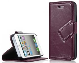 Blumax PU Wallet Bookstyle Case iPhone 5 Deepred