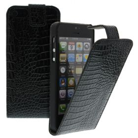Калъф за телефон iPhone 5 croco black
