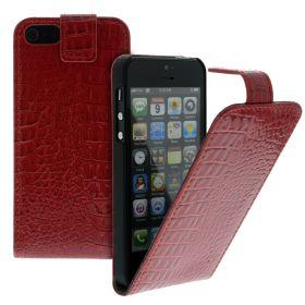 Калъф за телефон iPhone 5 croco red