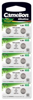 Алкални батерии AG0 - LR63 - LR521 - 379 - Camelion