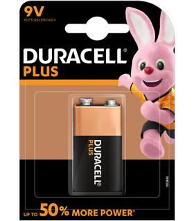 Алкални батерии 9V - Duracell Plus Power MN1604 9V