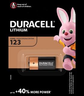 Литиева батерия CR123A 3V Duracell DL123