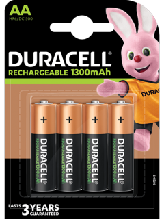 Акумулаторни батерии АА Duracell AA - 1300 mAh - BL4