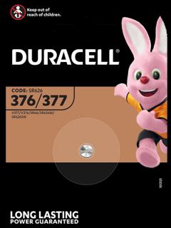 Батерия за часовник 377 - SR626SW - Duracell D377