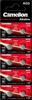 Алкални батерии AG5 - LR754 - 393 - 193 - Camelion
