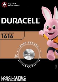 Литиева батерия CR1616 Duracell DL1616 - 3V