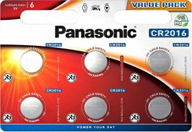 Литиеви батерии CR2016 Panasonic CR2016 - 3V - 6 батерии