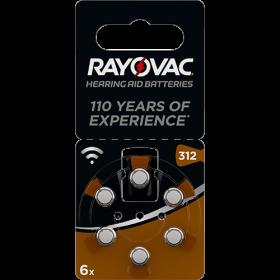 Батерии за слухов апарат номер 312 - Rayovac Acoustic