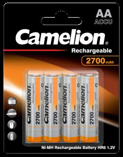 Акумулаторни батерии АА Camelion Rechargeable AA - 2700 mAh - BL4