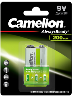 Акумулаторна батерия 9V Camelion Ready to Use 9V - 200 mAh