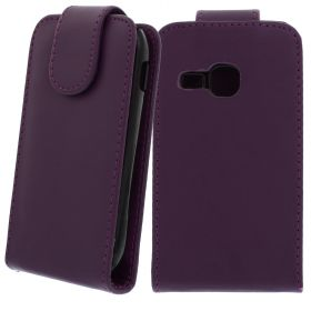 FLIP калъф за Samsung Galaxy Mini 2 GT-S6500 Purple