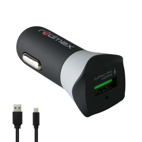 Мини USB адаптер за кола 2.4A + Micro USB кабел