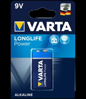 Алкална батерия 9V Varta Longlife Power