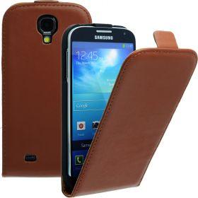 FLIP калъф за Samsung Galaxy S4 i9500 Естествена кожа Brown