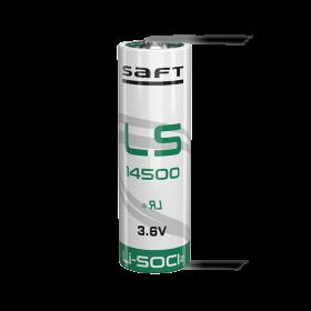Батерия 14500 SAFT LS14500LF-U AA 3.6V 2600 mAh с пластини