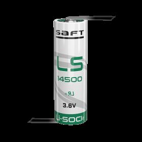 Батерия Saft LS14500-CNR 3.6V AA - 2600 mAh с пластини разнопосочни