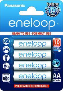 4 Акумулаторни батерии Panasonic Eneloop AA 1900 mAh