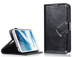 Blumax PU Wallet Booksytle Case Samsung Galaxy Note 2 N7100 Black