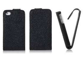 FLIP калъф за iPhone 4G 4S Strassdekor Black