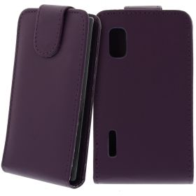 FLIP калъф за LG E610 Optimus L5 Purple (Nr 33)